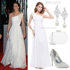 f43a63e7417 Kate wows in white McQueen gown on the BAFTA s red carpet