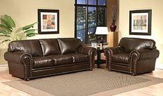 Brown leather sofa and chair — Leather Furniture in Tukwila, WA Rustic Leather Sofa, Distressed Leather Sofa, Brown Leather, Traditional Frames, Leather Furniture, Custom Leather, Sofas, Love Seat, Sweet Home