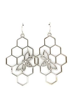 {Honeycomb Earrings} Emma Stine
