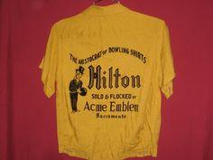 24c70d75 flocked Hilton bowling shirt emblem advertising Bowling T Shirts, Vintage  Bowling Shirts, Bowling Outfit