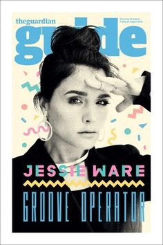 JESSIE WARE The Guardian Guide Cover styled by Avigail + Damian (Silver Spoon Attire) illustration by Kate Moross Jessie Ware, 80s Design, Layout Design, Print Design, Editorial Layout, Editorial Design, Kate Moross, Magazine Cover Design, Magazine Covers