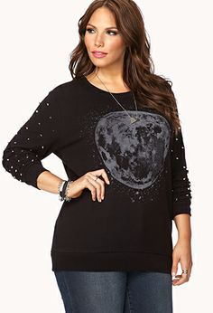 Forever21 Plus Size Spike Sweatshirt