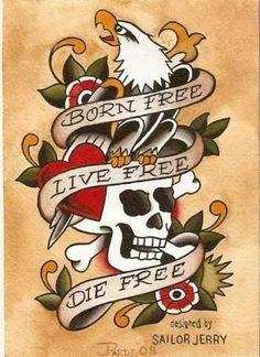 Tattoo Old School Traditional Skull Sailor Jerry 56 Ideas For 2019 - Ide Tattoos Trendy Tattoos, New Tattoos, Cool Tattoos, Arabic Tattoos, Dragon Tattoos, Army Tattoos, Biker Tattoos, Sailor Jerry Tattoos, Traditional Tattoo Design