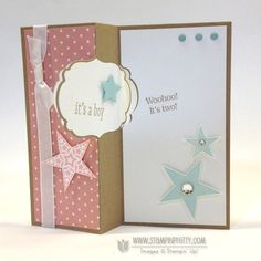 Stampin up stampinup stamp it pretty order thinlits labels card die baby card twins idea simply stars circle