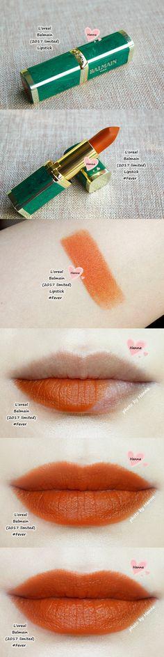 L'oreal Balmain lipstick 'Fever' (2017 limited)