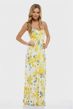 Awesome yellow summer maxi dress 2018/2019