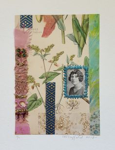 Collage Girls – Class of 1928 The Herbalist I imagined this sweet looking young woman growing and sharing plants for medicinal purposes. Grown Women, Girls Series, Young Women, Collage, Woman, Create, Sweet, Plants, Candy