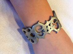 Pewter Bracelet Gothic Hand Forged In England Marsay-Alchemy $14.99