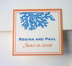Coral Wedding - Invitation Sample