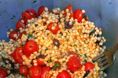 pearl couscous with olives and roasted tomatoes | smitten kitchen
