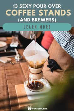 From steampunk to Bauhaus, these 13 pour over brewers and their stands are part art installation, part brewing technology. #sexy #pour #coffee Coffee Dripper, Little's Coffee, Coffee Brewer, Fresh Coffee, Coffee Type, Coffee Humor, Coffee Drinks, Steampunk Coffee, Pour Over Coffee Maker