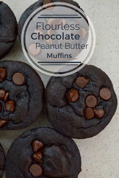 The Simple Life: Flourless Chocolate Peanut Butter Muffins (Gluten Free, Dairy Free)