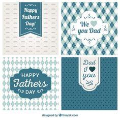 Variedad de tarjetas del día del padre