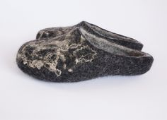 Felted wool clogs-wool felt slippers-natural wool slippers-wool clogs natural-black felt slippers-felted men women slippers-unisex felt shoe by WoolHome on Etsy