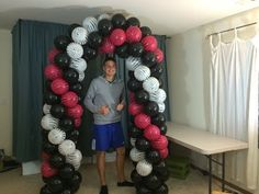 How to make a balloon arch without using helium.  I did this for my sisters shower; turned out great!