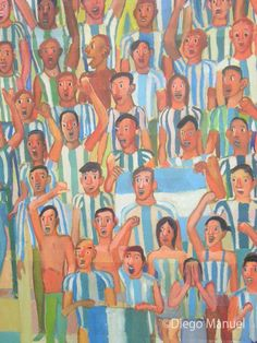 Gran Tribuna 2, acrylic on canvas, 130 x 95 cm, 2014 (detalle). By Diego Manuel