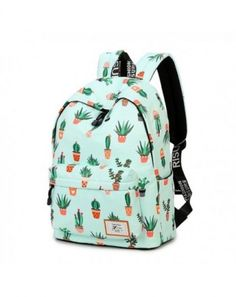 Fashion Leisure Backpack for Girls Teenage School Backpack Women Print Backpack Purse Cactus 851 - Cactus - Cute Backpacks For School, Girl Backpacks, Pretty Backpacks, Backpack Online, Backpack Purse, Gucci Handbags, Purses And Handbags, Fashion Bags, Fashion Backpack