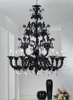 Someday I will have a black chandelier hanging somewhere in my home.  :)