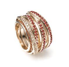 Mattioli Tibet Collection - Yellow gold, Orange Sapphire and Brown Diamond - $6,500