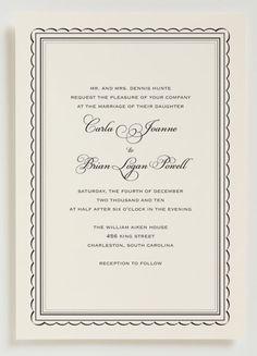 Emmy Wedding Invitation - Traditional Wedding Invitation