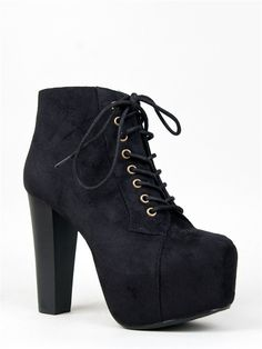 - Just like the Lita bootie for a fraction of the price, these booties have all the same elements you've been lusting after: soft vegan suede, a tall chunky wooden heel and lace-up closure. - A stitch