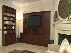 Matching bookcase as well as the entertainment center.