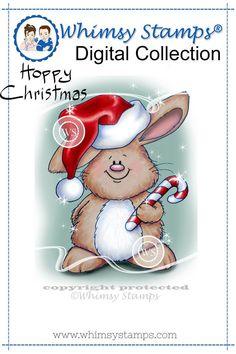 Gus on Christmas - digital stamp
