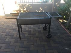 Half drum braai I made for a good friend of mine.