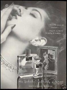 Dana Tabu Perfume Cologne Bottles Woman (1954)