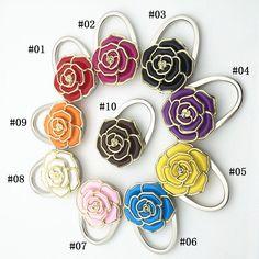 Round Table Vintage Flowers Foldable Purse Bag Hanger Handbag Hook Holder.