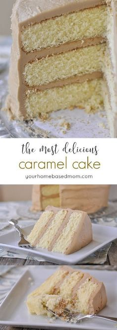 Caramel Cake – the most delicious cake ever! Caramel Cake – the most delicious cake ever! Related posts: This Homemade Funnel Cake is delicious! Köstliche Desserts, Delicious Desserts, Dessert Recipes, Yummy Food, Frosting Recipes, Cookie Icing, Buttercream Icing, Chocolate Buttercream, Yummy Yummy