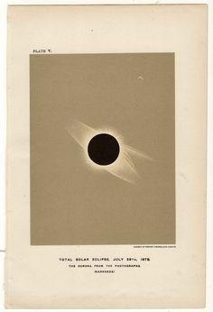 1878 Eclipse total de sol. 29 de julio.  sol eclipse solar