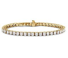 Diamond Tennis Bracelet in 18k Yellow Gold (7 ct. tw.) #BlueNile