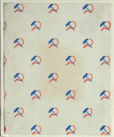 Liubov Popova Textile Design, 1923-24, gouache on paper