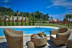 Nefeli Villas and Suites Outdoor Furniture Sets, Outdoor Decor, Fishing Villages, Luxury Villa, Villas, Seaside, Countryside, Planets, Holidays