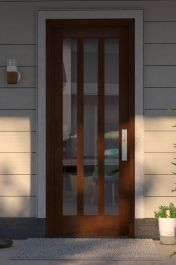 Contemporary Modern Exterior, Interior door by US Door & More Inc in Single Door made of Wood and the grain is Mahogany Modern Entry Door, Doors, Single Doors, Wall Trim, Contemporary Doors, Wall Wardrobe Design, Modern, Modern Exterior, Doors Interior