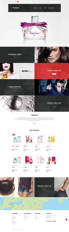 Premium Perfumes Online Store #Magento #template. #themes #business #responsive #webshop #Magentothemes