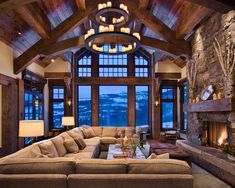 Contemporary Living Room Rustic Design, Pictures, Remodel, Decor and Ideas - page 31