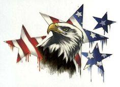 stars, eagle, flag