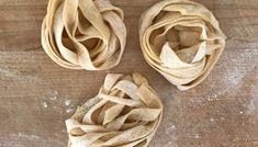 Homemade eggless sourdough Pasta