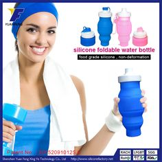 customizable sports bottles silicone foldable water bottle collapsible water bottle promotional