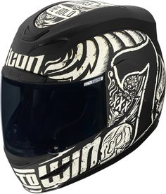 New ride icon WHITE airmada LUCKY TIME motorcycle full face biker helmet