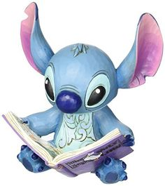 """Jim Shore for Enesco Disney Traditions by EnescoStitch with Story Book Figurine, 5.75"""",…"""