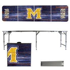 McNeese State Cowboys Weathered Folding Table