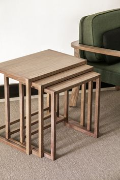 Shop the Nido Nesting Tables and more contemporary furniture designs by Punt Furniture at Haute Living. Small Furniture, Contemporary Furniture, Furniture Sets, Table En Bois Diy, Diy Table, Rustic Outdoor, Outdoor Sofa, Build A Fireplace, Boutique Decor