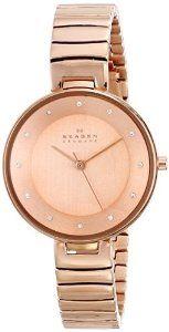 Skagen Women's SKW2227 Gitte Quartz 3 Hand Stainless Steel Rose Gold Watch