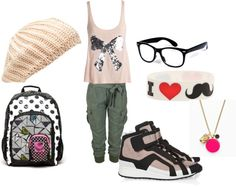 """""""Cute school outfit"""" by cottoncandygirlx ❤ liked on Polyvore"""