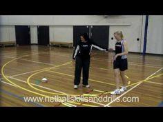 Netball Skills and Drills - Level 1 Ladder Drills - YouTube