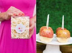 healthy (no-bloat) valentine's day treat ideas: popcorn and candied apples