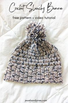 Keep your ears nice and warm with this slouchy crochet beanie! This free crochet slouchy beanie pattern is cozy, comfy, and totally beginner-friendly. #crochet #freecrochetpattern #crochetbeanie #beanie Easy Crochet, Free Crochet, Crochet Slouchy Beanie Pattern, Free Pattern, Crochet Patterns, Winter Hats, Crafty, Stitch, Creative